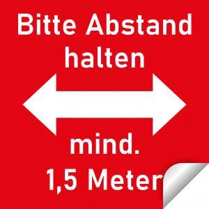 Bitte Abstand halten / 30x30cm