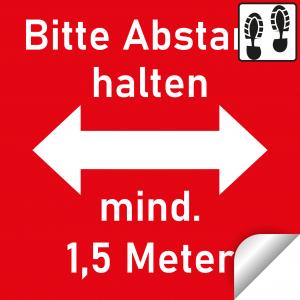 Bitte Abstand halten+Trittschutzlaminat / 30x30cm