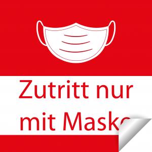 Nur mit Maske / 30x30cm